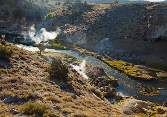 Hot Creek steam klein